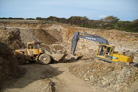 """Quarrying the ""Downs Vein"" - Click for a bigger picture!"
